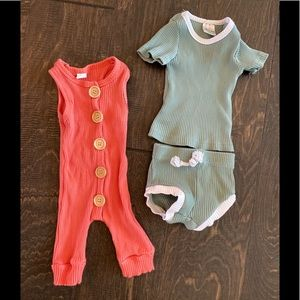Other - Ribbed Jumpsuit + 2 piece Lot